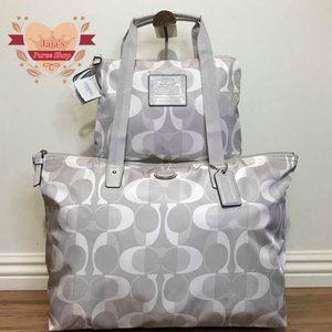 🤍Coach Signature Nylon Bag & Snap Pouch🤍